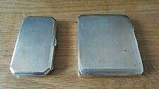 Dos casos de cigarrillos de plata esterlina Vintage c1933 y c1922