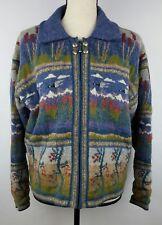 Icelandic Design Medium Sweater Women's Full Zip Wool Cardigan Lined