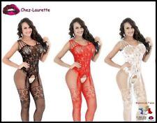 Combinaison bodystocking catsuit résille ultra sexy!! Nombreuses couleurs CAT007