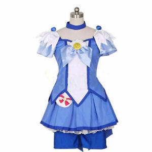 Smile PreCure! Glitter Force Hoshizora Miyuki Cure Happy Dress Cosplay Costume