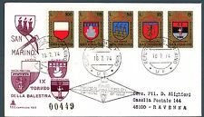 SAN MARINO - 1974 - IX° Torneo della balestra su FDC raccomandata