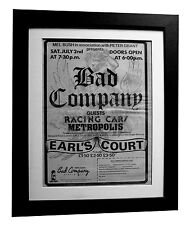 BAD COMPANY+Earl's Court 1977+POSTER+AD+RARE ORIGINAL 77+FRAMED+FAST GLOBAL SHIP
