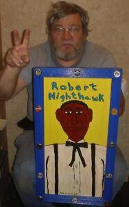 Blues Robert Nighthawk Dan C Ciesielski outsider folk art original painting Raw