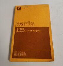 CATERPILLAR 3406B GENERATOR SET ENGINE PARTS BOOK