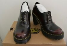 DR MARTENS SALOME II CHERRY RED LEATHER LACE UP SHOE BOOTS BNIB UK 4