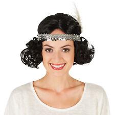 Parrucca de Charleston Donna Anni 20 Nero Accessori Adulto Carnevale Halloween