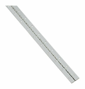 National Hardware N148-221 Nickel Steel Continuous Hinge 1-1/16 W x 30 L in.
