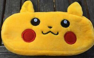 Pokémon Pickachu Plush Pencil Case Cosmetic Pouch Storage Bag Zipped Pokemon