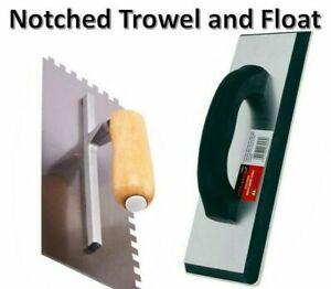 Tiling Tool Kit Grout Float Notched Tile Trowel Grouting Ceramic 1668 3053