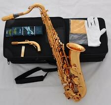 Professional Electrophoresis Gold C Melody Saxophone New sax High F# 2 Necks