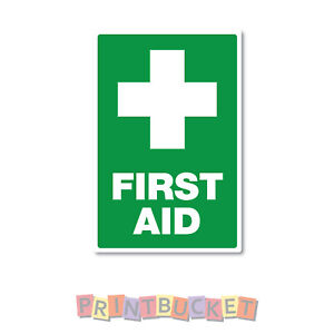 First Aid Sign 190mm x 290mm quality water proof vinyl safety