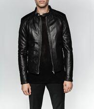 Mens Serge Pariente Paris Leather Jacket Leni Black XXXL Special Skull Lining