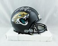 Laviska Shenault Jr Signed Jacksonville Jaguars Mini Helmet - Beckett W Auth