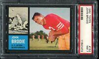 1962 Topps Football #152 JOHN BRODIE San Francisco 49ers PSA 7 NM