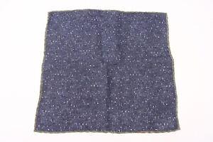 NWT Brunello Cucinelli Men's Striped + Flecked Print Pocket Square  A176