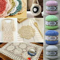 1Ball Lace Crochet Thread Cotton Wool Yarn Hand Knitting Crochet Thread Craft