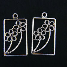 10pcs Tibetan Silver Flower Pendants Charms For Jewelry Making FA712