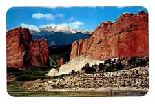 Pikes Peak Colorado Postcard Gateway of the Garden Gods Vintage Rock Formations
