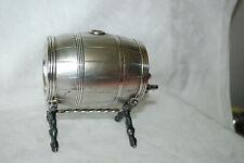 antique UNUSUAL figural barrel COLOGNE BOTTLE silver/silverplate Osborne 855