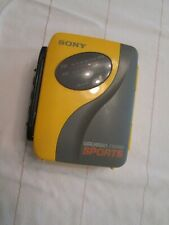 Sony Walkman WM-SXF30 Sports AM/FM Portable Stereo Cassette Player TESTED Yellow