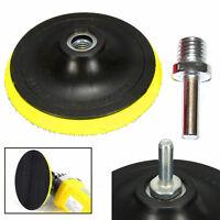 "3/4/5/6/7"" inch Backer Pad Polishing Buffing Plate Rubber + M14 Drill Thread Set"