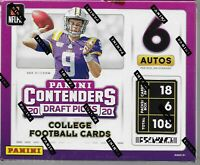 2020 PANINI CONTENDERS DRAFT PICKS FOOTBALL SEALED BOX 6 AUTO Burrow Tua Herbert