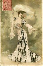 Artiste MALVILLE de la Scala Jolie femme Robe en feutrine Semble elle qui écrit