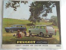 Peugeot 404 Family Saloon & Station Wagon  brochure 1963 English text