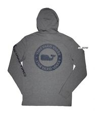 Vineyard Vines Men's Whale Dot Pocket L/s Gray Hoodie T-shirt XL