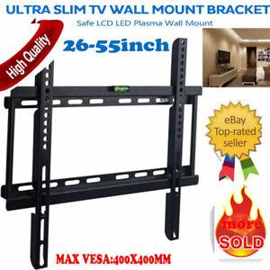 TV Wall Mount Bracket 26 30 32 37 42 46 47 50 52 55 LED LCD Flat Screen Rack NEW