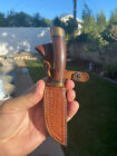 vintage browning USA fixed blade knife 35181 with sheath NOS