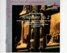 CD KURT MASURMendelssohn SYMPHONY NO 2TELDEC EX+ (A0670)