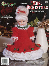 Mrs. Christmas ~ Mrs. Santa Claus Crochet Patterns & Air Freshener Doll