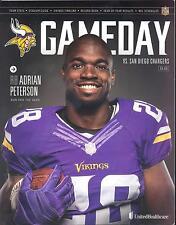 Minnesota Vikings San Diego Chargers 9/27/15 GameDay Program...Adrian Peterson