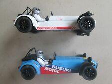 Scalextric Hornby Caterham Lotus 7 19 x2 slot car Suzuki Motul Ec! Run well! 21
