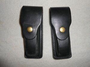 2 X BLACK Leather Magazine Holder CZ-82/83 Makarov Walther PPKZILI PRAHA (Pair)
