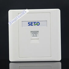 SETO Wall Socket  Plate Single Port One  RJ11 Telephone Jack Panel Faceplate
