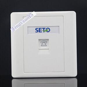 SETO Wall Socket  Plate Single Port One  RJ11 Telephone Jack Panel Faceplate