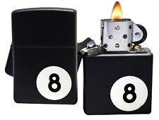 Zippo Lighter 28432 8 Ball Billiards Black Matte Windproof Classic NEW