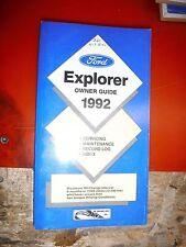 1992 Ford Explorer Original Operators Owners Manual Guide