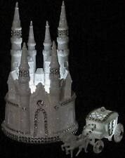 BLING LIGHTED CINDERELLA WEDDING CASTLE CAKE TOPPER & COACH