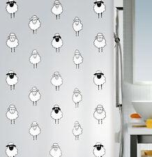 Lana Negro de oveja Cortina ducha 180 x 200 cm. 100 % PEVA blanco artículos