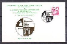 v3884 Schachfestival Pula 1989 Karte mit Sonderstempel