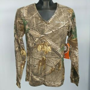 NEW! RealTree Xtra Long-Sleeve Hunting Tee - Women's Size S, Camo