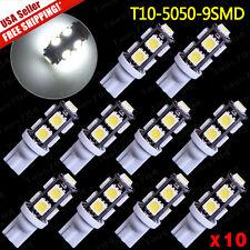 10 X White T10 906 168 192 5050 9-SMD LED Backup Reverse Lights Bulbs