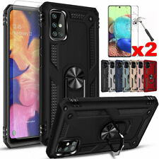 For Samsung Galaxy A11 A21 A01 A02s A22 A50 A71 Shockproof Case+Tempered Glass