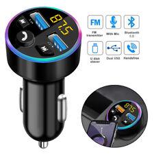 Auto Bluetooth 5.0 FM Transmitter Adapter USB KFZ Freisprechanlage