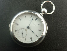 "VINTAGE 18 SIZE ""W.M. ELLERY"" WALTHAM KEY WIND POCKET WATCH - RUNNING"
