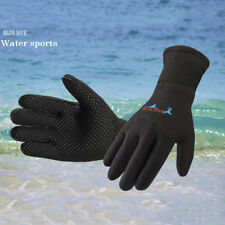 3mm Wetsuit Gloves Neoprene Diving Swimming SURFING GLOVES SIZE L BLACK Warm