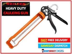 """Neilsen 11"""" Heavy Duty Silicone Sealant Tube Caulking Skeleton Gun Mastic CT3718"""